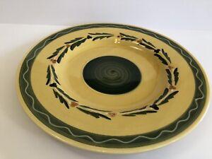 "Williams Sonoma 14.5"" Serving Plate Chop Platter MIRABEAU Green Gold Berries"