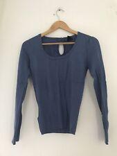 Ladies Mango Jumper M Blue Long Sleeve Casual  JJ10623 65174e67f
