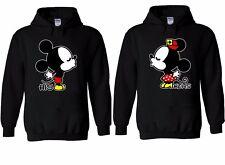 Disney Kissing Mickey Minnie Mouse Couple Hoodie Sweatshirt Men Women Unisex