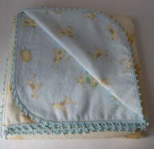 Flannel Baby Blanket   Burp Crochet Edge~43