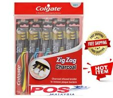 1 Pack x 5 Pcs Colgate (Soft) Zig zag charcoal Toothbrushes - Freeshipping-