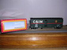 "INTER.Spec.  C.& I.M. ""Green"" 40' AAR Box Car w/3 Car #s  H.O.Gauge"