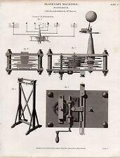 1819 ~ stampa Georgiano macchine PLANETARIA planetario da Pearson