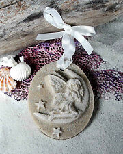 SAND FAIRY Better than the Tooth Fairy-MOON SITTING Made of Sand Beach Ornament
