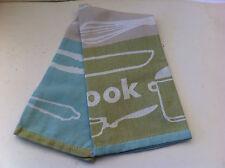 Mix Cook Serve Sage 100% Egyptian Cotton Set of 3 Tea Towels - 50 x 70cm
