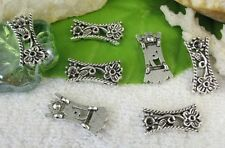 50PCS  Tibetan silver floral 2 holes spacer beads FC10396