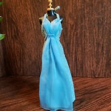 Vintage Barbie Dress Blue Sparkle Halter Gown Best Buy 9626 Superstar Era 1977