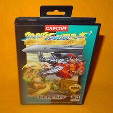 Vintage SEGA GENESIS Street fighter II edición especial campeón de 2 juego de video