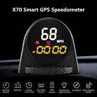 Autool Smart GPS HUD Speedometer Overspeed Alarm Compass Altitude Meter MPH/KMH