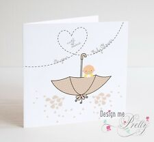 BABY SHOWER Card For Baby or Girl - New Baby - Pregnancy Cute Neutral