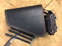 Seitentasche Black Orange Sportster 1200 883 iron 48 Ledertasche Tasche Clean