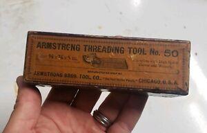 Antique Armstrong Threading Tool No. 50 NOS Original Box Tool High Speed Cutter