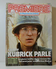 Premiere LE Magazine 10/87 Kubrick - MATTHEW MODINE - Louis Malle (P34)