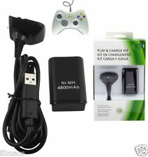 Play And Charge Battery For Microsoft Xbox 360 Wireless Controller Gamepad Black
