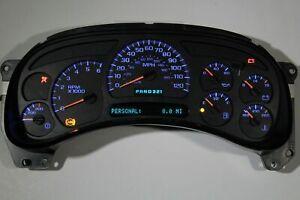 2003 2004 Chevy Silverado GMC Sierra 2500HD Heavy Duty Gas Replacement Blue LEDs