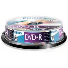 10er Spindel Philips DVD-R 4,7 GB Rohlinge 120 Minuten Aufnahmezeit 16x Speed
