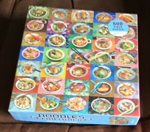 NOODLES FOR LUNCH (Galison USA) 500 PIECE JIGSAW PUZZLE, COMPLETE.