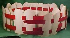 Vintage Christmas Fence Red & White Aluminum 10 Feet Putz Train Yard Display