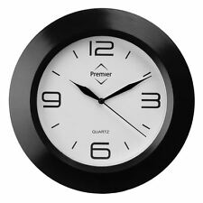 Premier Housewares Wall Clock With White Face - Black