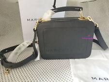 Marc Jacobs The Mini Box Bag Crossbody BLACK leather Bag Hot sales