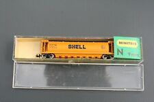 """N Scale Minitrix """"Shell"""" Cylindrical Covered Hopper"""