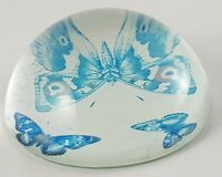 Glass Paperweight Art Butterfly Retro Collectable Vintage