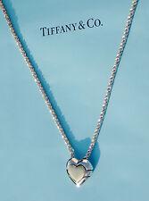Tiffany & Co Argento Sterling 18Ct 18K ORO CUORE PUZZLE 18 Pollici Collana