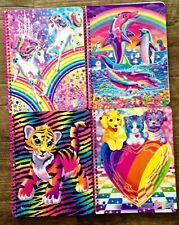 Lisa Frank Lot of 4 Spiral Glitter Notebooks Dolphin,Unicorns,Puppies,Cub NEW