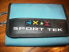 Sport Tek Trifold Wallet Medium Blue with Black Inside