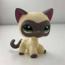 LPS #1116 Toy Littlest Pet Shop Grey Ear Eyeshade Short Hair Kitty Green Eye Cat