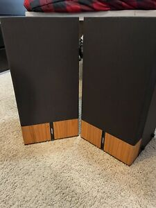 BOSE 6.2 Stereo Everywhere Left & Right Cabinet Speakers Brown Wood - WORKING
