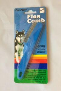 Four Paws Pet Flea Comb Single Row Coat Dog Cat Rabbit Ferret Remove Blue Color
