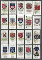 1906 Wills's Cigarettes School Arms Tobacco Cards Complete Set of 50