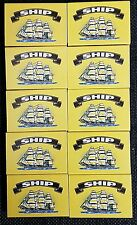 Ship Safety Matches pack of 10 boxes  at approx 32 matches  per box