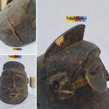 AUTHENTIC Lwena Lovale Helmet Mask Figure Statue Sculpture Fine African Art