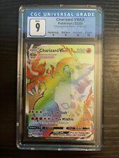 Pokemon CGC 9 Charizard VMAX Hyper Rare Rainbow Secret Champions Path PSA 10