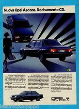 QUATTROR985-PUBBLICITA'/ADVERTISING-1985- OPEL ASCONA CD