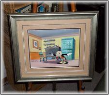 FRAMED Preston Blair SIGNED Jiminy Cricket Production Animation Cel w/Drawing
