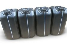 4 x 25 litre new plastic bottle jerry can water container black approved