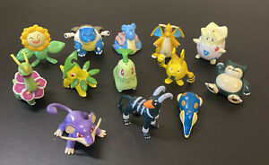 "Vintage Pokemon Figures TOMY 1999/2000 Nintendo 2"" Lot 13 Figures Rare Pokémon"