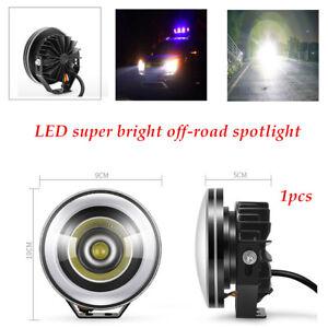 1PCS LED Projector Fog Light Round  Angel Eye  Truck 12V Working Lamp Highlight