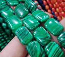 New 13x18mm Green Malachite Gemstones Rectangle Loose Beads 15''