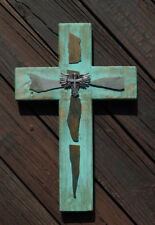 Wooden Cross, Wall Hanging Wood Cross, Home Decor, Art, Gift, Rustic, Farmhouse