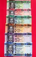 SUDAN DEL SUR LOTE SET 6 BILLETES 1-5-10-20-50-100 LIBRAS ( 2011-2017) SC / UNC