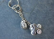 Gas Mask and Grenade Key chain -post apocalypse - Borderlands, Fallout, Gamers