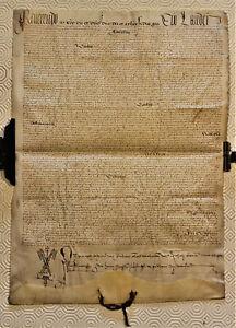 RARA PERGAMENA A NOME DI PAPA PAOLO III (ALESSANDRO FARNESE)  1536