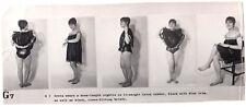 GUMMI FETISCH LATEX WÄSCHE RUBBER UNDIES FETISH * Vintage 60s US Promo Photo G7