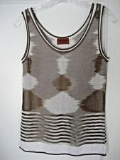 MISSONI Ikat/Stripe Knit Tank Top, Size (40) Small, Made in Italy