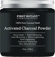 Activated Charcoal Powder 8 oz for DIY Recipes - Teeth Whitening, Facial Masks,