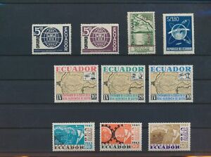 LO42100 Ecuador mixed thematics nice lot of good stamps MNH